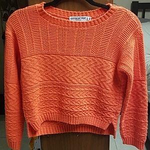 Cotton Emporium orange crop sweater